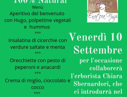 "Cena a tema ""100% Natural food"""